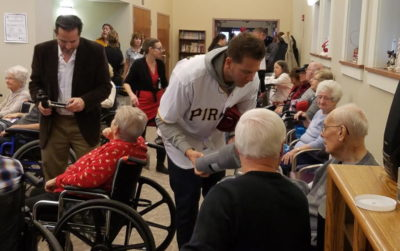 Pirates Play Santa, & Play Ball, During Annual CARE-A-Van Stop In Butler